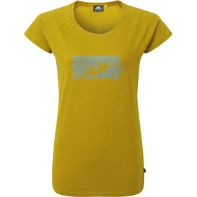 Mountain Equipment King Line T-Shirt Damen acid